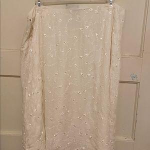 Lauren Ralph Lauren cream skirt